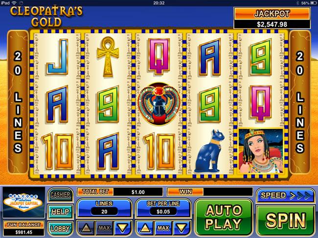 cleopatras gold screenshot
